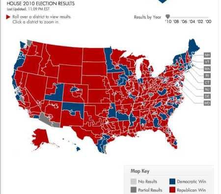 House Republican landslide map