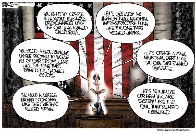 obama lying cartoon