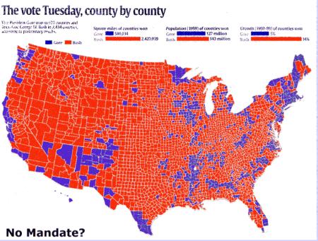Bush Gore election map