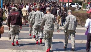 soldiers high heels