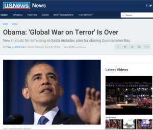 Obama War on Terror OVER
