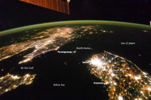 North Korea at night 1