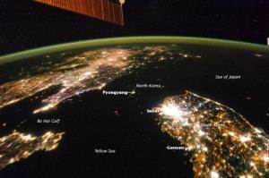North Korea at night 1